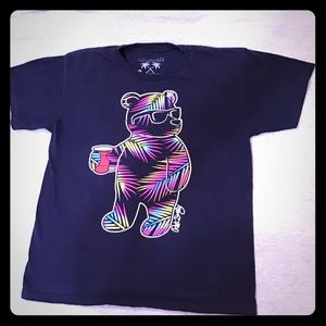 Riot society youth medium tee shirt teddy tee